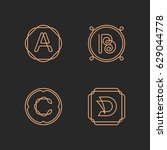 Vector Letters A  B  C  D Logo...