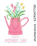 mothers day card vector... | Shutterstock .eps vector #629047700