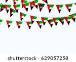 uae flag festive bunting... | Shutterstock . vector #629057258