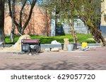 diesel portable generator on... | Shutterstock . vector #629057720