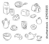 vector sketch clipart set ... | Shutterstock .eps vector #62905855