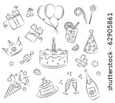 Vector Sketch Clipart Set