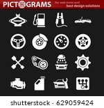 car service vector icons for... | Shutterstock .eps vector #629059424
