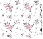 a drawing in a small pink... | Shutterstock .eps vector #629062250