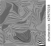 vector warped lines monochrome... | Shutterstock .eps vector #629070218