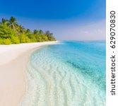 landscape of paradise tropical... | Shutterstock . vector #629070830