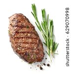 grilled beef steak isolated on... | Shutterstock . vector #629070998