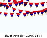 armenia flag festive bunting... | Shutterstock . vector #629071544
