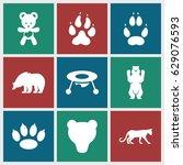 bear icons set. set of 9 bear...   Shutterstock .eps vector #629076593