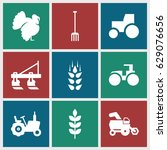 agricultural icons set. set of... | Shutterstock .eps vector #629076656