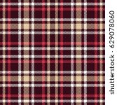 Red And Brown Tartan Seamless...