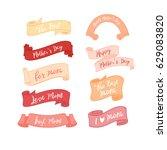 mother's day warm sweet element ... | Shutterstock .eps vector #629083820