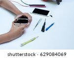 close up photos showing process ... | Shutterstock . vector #629084069