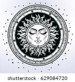 vintage elegant hand draw work... | Shutterstock .eps vector #629084720