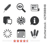 agricultural icons. gluten free ... | Shutterstock .eps vector #629088848