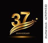 37 years anniversary... | Shutterstock .eps vector #629094530
