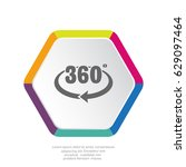 rotation of 360 icon vector. | Shutterstock .eps vector #629097464