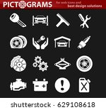 car service vector icons for... | Shutterstock .eps vector #629108618
