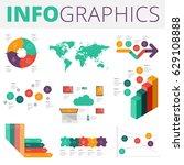 infographics design elements... | Shutterstock .eps vector #629108888