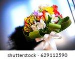 beautiful bridal wedding... | Shutterstock . vector #629112590