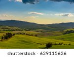 pienza  italy   april 16  2017  ... | Shutterstock . vector #629115626