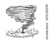 hurricane tornado typhoon vortex | Shutterstock .eps vector #629120558