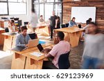 young adult colleagues working... | Shutterstock . vector #629123969