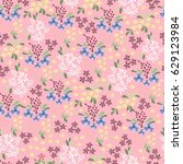 seamless pattern with cute... | Shutterstock .eps vector #629123984