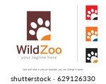 wild zoo logo template design... | Shutterstock .eps vector #629126330