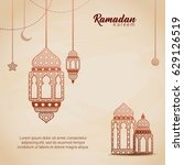 ramadan kareem design... | Shutterstock .eps vector #629126519