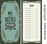 template vector menu for...   Shutterstock .eps vector #629129570