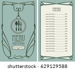 template vector menu for... | Shutterstock .eps vector #629129588