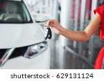 passing car keys. cropped... | Shutterstock . vector #629131124