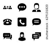 talk icons set. set of 9 talk...   Shutterstock .eps vector #629131820