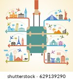 infographics elements  travel... | Shutterstock .eps vector #629139290
