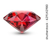 Ruby. 3d Image. Isolated White...