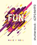 abstract style poster with... | Shutterstock .eps vector #629146493