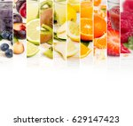 photo of colorful mix stripes... | Shutterstock . vector #629147423