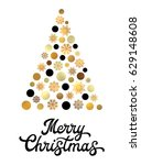 stylized christmas tree... | Shutterstock . vector #629148608