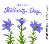 mothers day greeting card with... | Shutterstock . vector #629148614