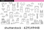fashion outline icon  isolated... | Shutterstock .eps vector #629149448