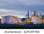 oil refinery industry ... | Shutterstock . vector #629149784