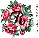 roses bouquet vintage vector... | Shutterstock .eps vector #629151500
