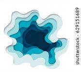 abstract elements of paper art... | Shutterstock .eps vector #629151689