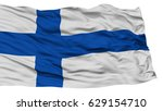isolated finland flag  waving... | Shutterstock . vector #629154710
