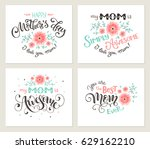 happy mother day greeting card... | Shutterstock .eps vector #629162210