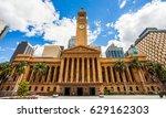 City Hall In Brisbane Australi...