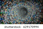 picture wall flow  3d... | Shutterstock . vector #629170994