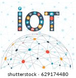 internet of things concept and... | Shutterstock .eps vector #629174480