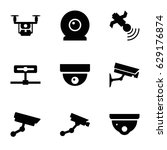 surveillance icons set. set of... | Shutterstock .eps vector #629176874
